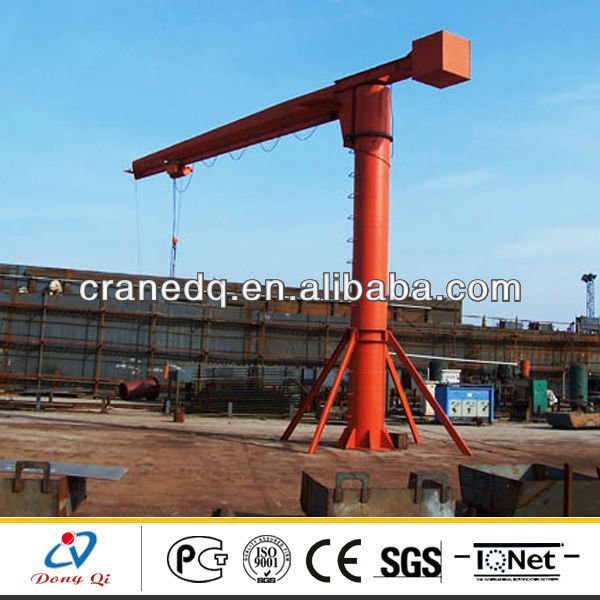 BZ model fixed pillar slewing luffing jib tower crane