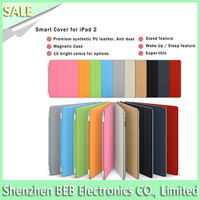Featured for ipad 2 smart cover leather case rotating stand has low price