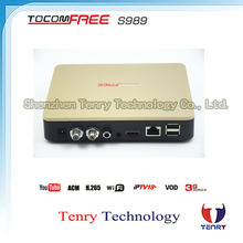 Hd satellite receiver tocomfree s989 with ACM function and iks sks free for 58w 53w star one c2 in South America
