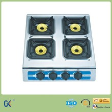 Chinese Kitchen Appliances Manufacturers 4 Brass Burner Gas Stove