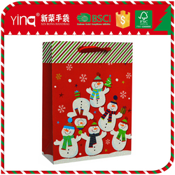 Cheap 210g ivory paper/157g art paper christmas hand bags products