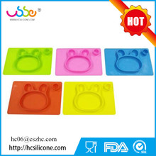 Safe Bowl Waterproof Tableware for Baby Toddler Kids Silicone Tableware Divided Placemat Plate