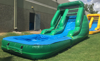 15ft toddler jungle cheap inflatable water slide for home use