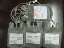 Disposable with CE rolled and extruded plastic CPDA-1 blood bag