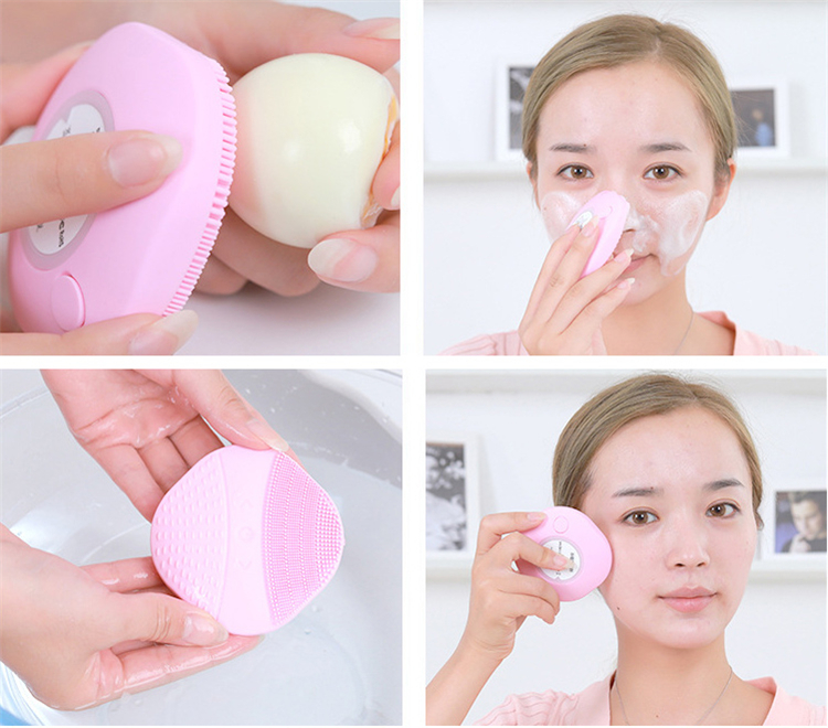3 in 1 facial cleanser silicone IPX7 waterproof facial cleanser gel