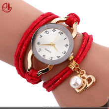 Wholesale Quartz Long Wrap Watches Hour Clock Women Sports Casual Gold Relojes De Mujer