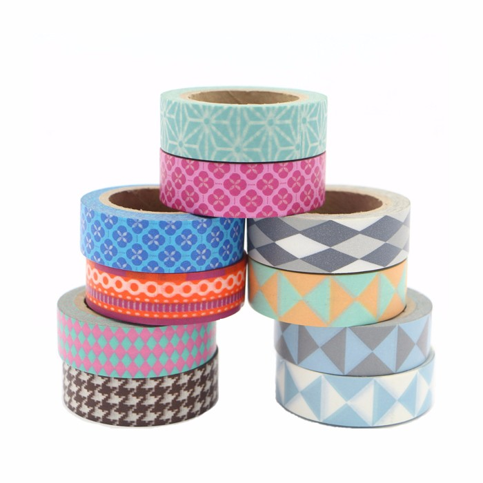 Cheap wholesale fine line high temperature heat resistant decorative waterproof masking tape jumbo roll washy japanese tapes