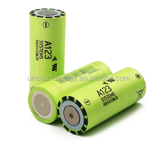 A123 26650 lifepo4 battery 2500mAh ANR26650M1B lifepo4 A123 battery