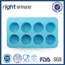 Brand New Design silicone 8 cavities round shape soap mold
