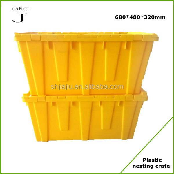 Large wholesale plastic totes with lids