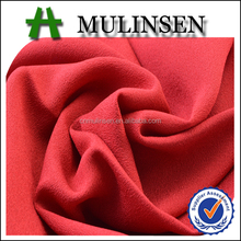 Mulinsen Textile Plain Dyed French Crepe De Chine Faille100% Polyester Crepe Lining Fabric For Dress