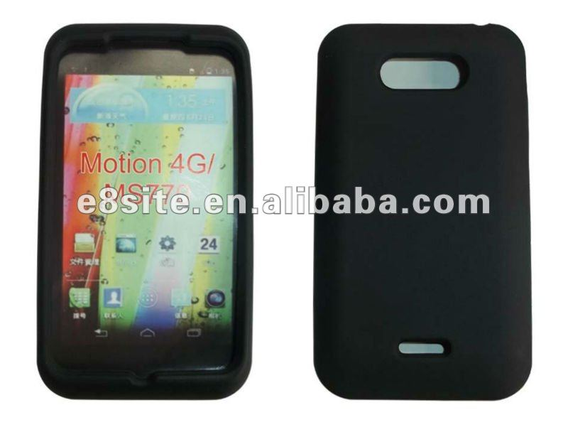 Soft Rubber Silicone Mobile Phone Cases For LG MS770/Motion 4G