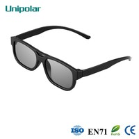 Classic style and comfortable plastic 3D glasses for cinema