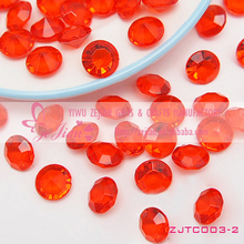 Red Crystal Diamond Table Confetti For Wedding Party Decoration