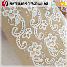 White Poly Bride Mesh Wedding Lace Patch Handwork Embroidery African Embroider Fabric