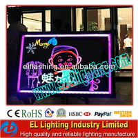 LED table writing board transparent billboard
