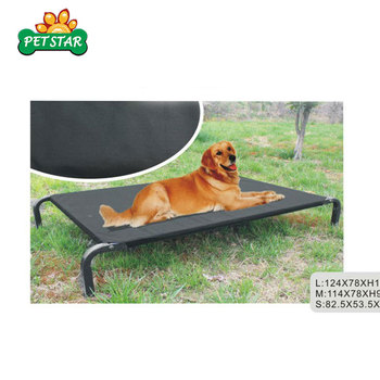 OEM Factory Cheap Outdoor Wrought Iron Pet Bed Luxury Elevated Pet Bed