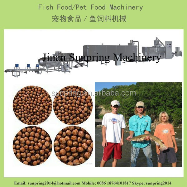 2ton high capacity floating fish feed pellet making machines /twin screw extruder / 1000kg/h