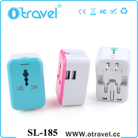 Songlinda 2016 multi socket 5V 2.4A double usb output power travel adaptor with bag multi plugs universal travel adapter