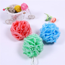 Shiny natural loofah soft mesh shower sponge flower exfoliating bath sponge