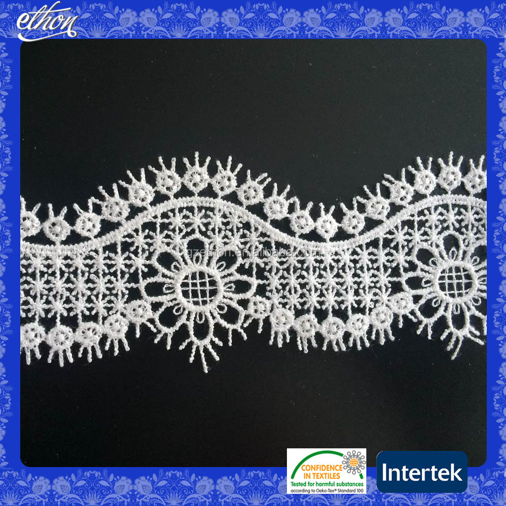 China supplier High Quality white color trimming Popular Apparel Accessories Lace Fabric for wedding dress