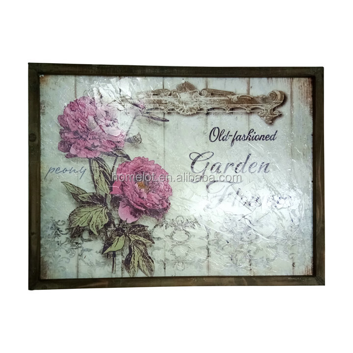 Cheap Wood Craft Decoration Customized Design Vintage Wall Plaque