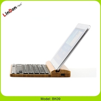 Newest Bamboo Bluetooth Multimedia Keyboards for mobiles and tablets
