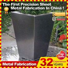 Outdoor outdoor metal planters standing for sale China direct manufacturer
