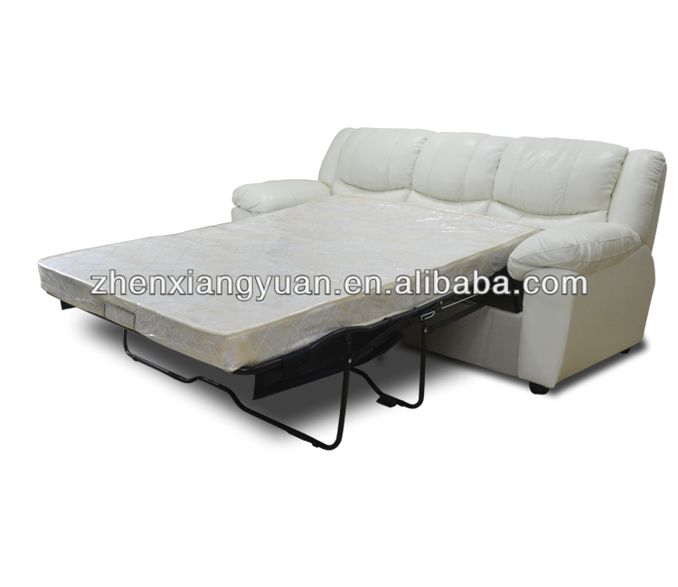 2017 Modern design Living room furniture Sleeper recliner sofa pull out leather folding sofa bed