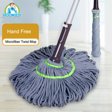 Twist Hand Free Microfiber Spin Mop Wholesale Household and Commercial Mop