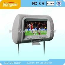 Car Electronics -7'' Auto Car Headrest Dvd And Monitor