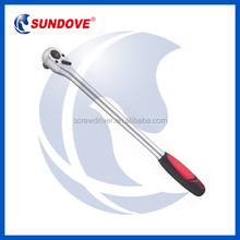 Quick Release Extra Long Ratchet Wrench With Bi-Material Handle