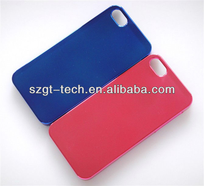 New fashion design alumium metallic plastic protective cover PC case for Apple iPhone5