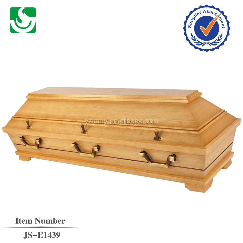 JS-E1439 Germany antique style and nice zinc handles with professional interior for buy coffin