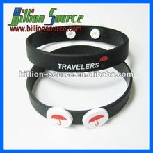 lovely oem silicone bracelet with two buttons