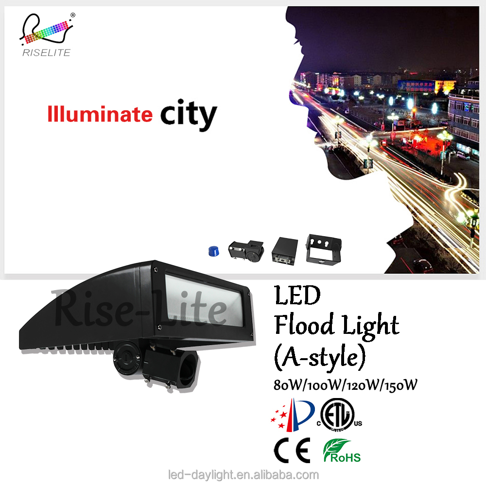 New design High power ETL DLC list 80w 100w 120w 150w post top parking light led street light