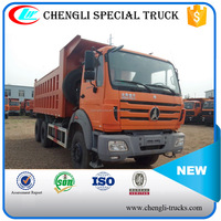 china supplier 40 tons loading 20cbm dump body 10 wheels 6*4 type right hand drive beiben NG80 dumper lorry