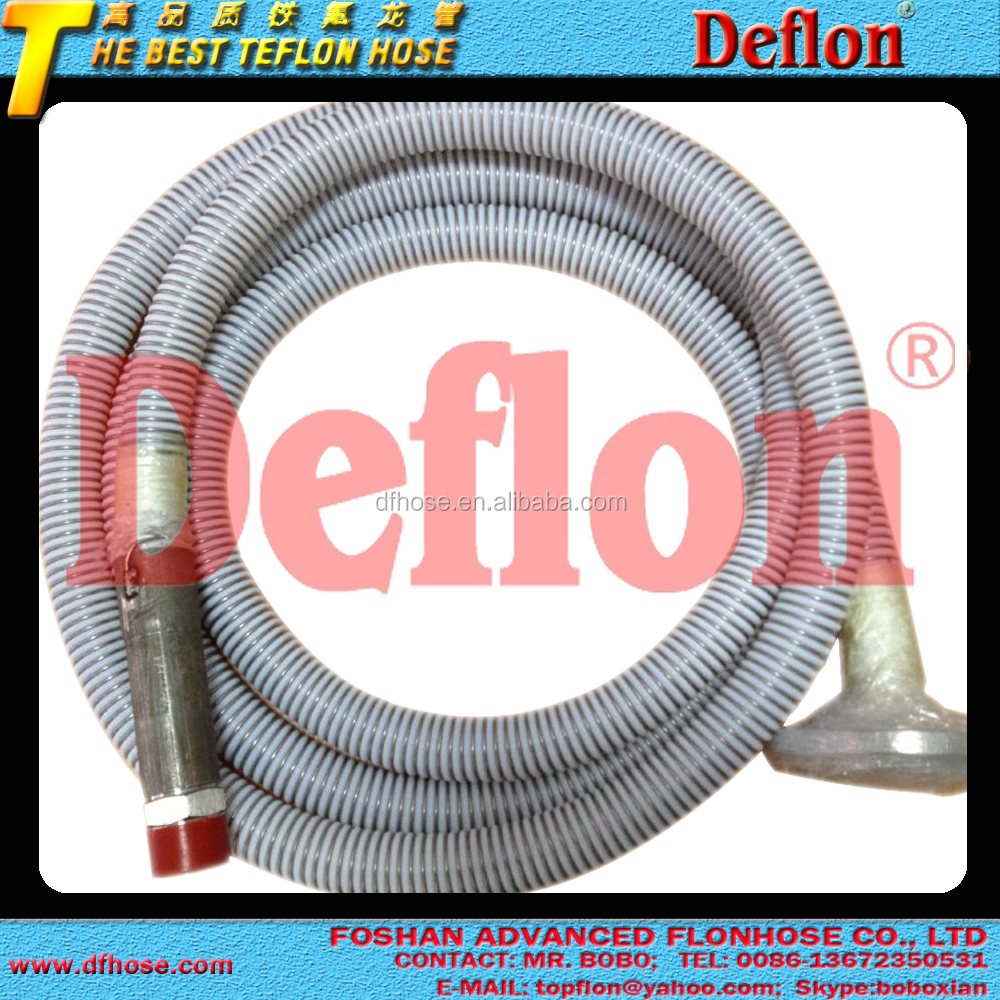 high temperature flexible ptfe suction hose pipe, teflon chemicals discharge hose