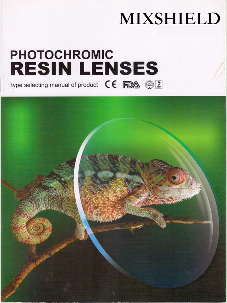 1.56 UV400/1.61 UV400 Photochromic Minus Lenses C.T Thickness and Curves