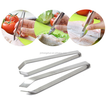 food grade full stainless steel fish bone tweezers for for pig hair and bones