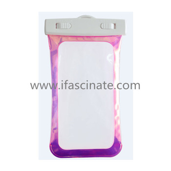 Promotional durable waterproof phone bag for drifting
