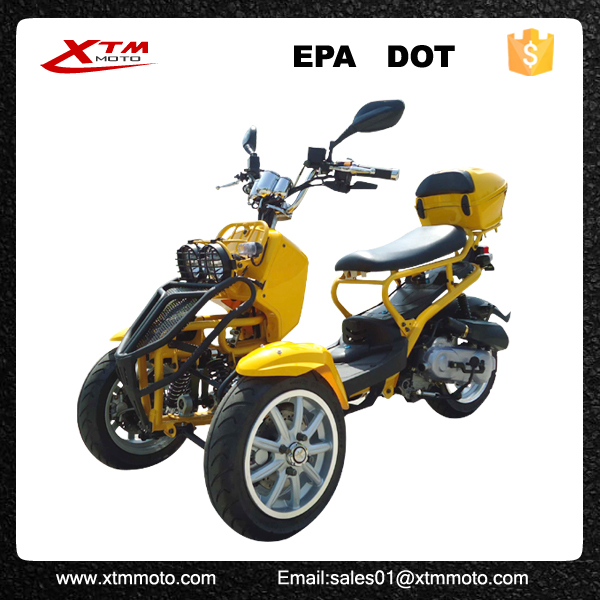 Gas wholesale cheap 50cc adult 3 wheel 49cc scooter