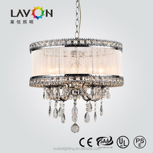weddings decoration E14 & 5 heads modern hanging crystal chandelier