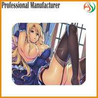 AY Big Chest Anime Mousepad Photo Sex Nude Girl Pictures Printed Neoprene Mats, New Anime Sexy Girl Yugioh Mouse Pads