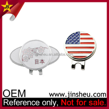 China OEM Manufacturer Custom Country Logo Golf Ball Marker Flag