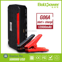Juxing Power G06A 12000mAh Li-po battery pack for 12v jump starter can charge for laptop / mobilephone