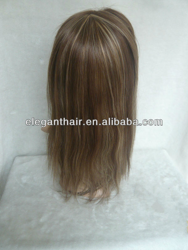 silk straight hair,hilight color,100% human hair lace front wig