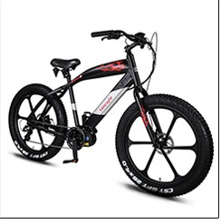 "new alloy the 26"" beach cruiser snow electric bike fat tire electric bike"