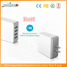 new mobile accessories fast custom smart phone7.2A 4 port travel adapter with usb for samsung galaxy s6 iphone 6 6s 5s mobile ph