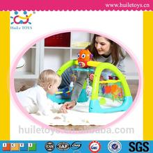 2016 Best selling plastic baby toy musical hanging exercise gym for wholesales